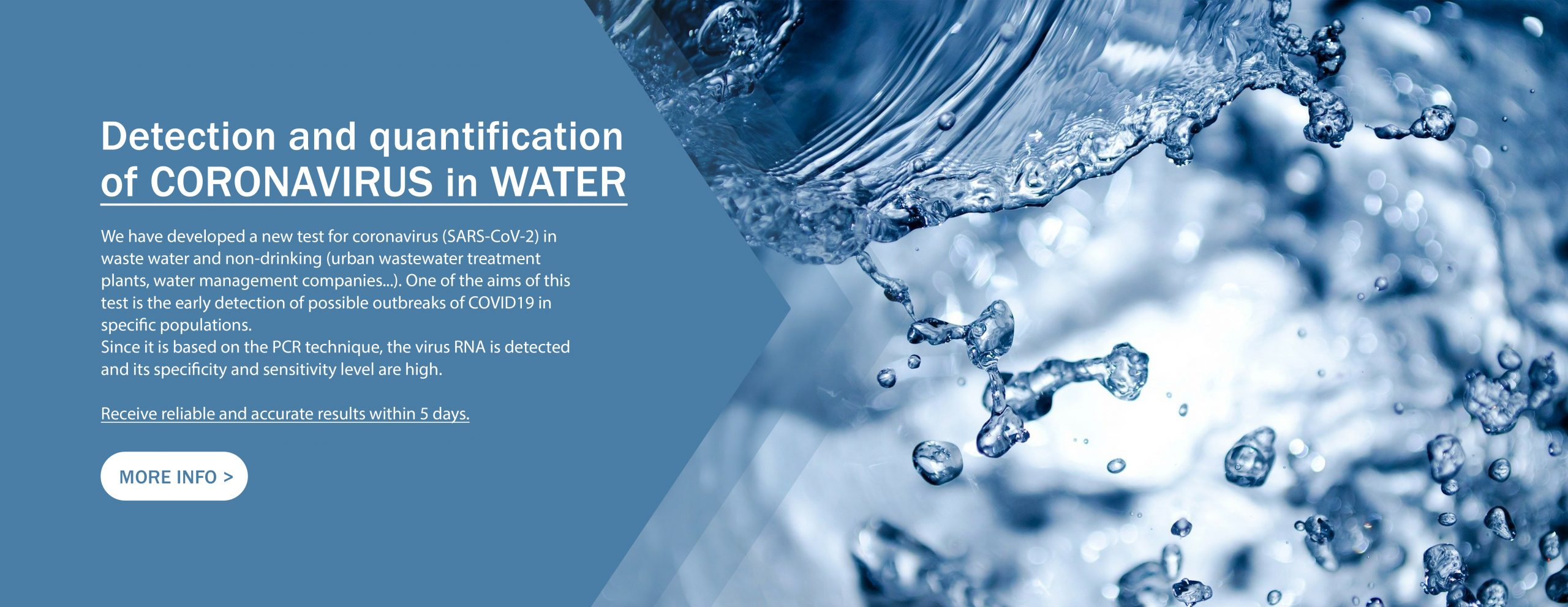 Detect SARS-CoV-2 in Wastewater and Drinking Water