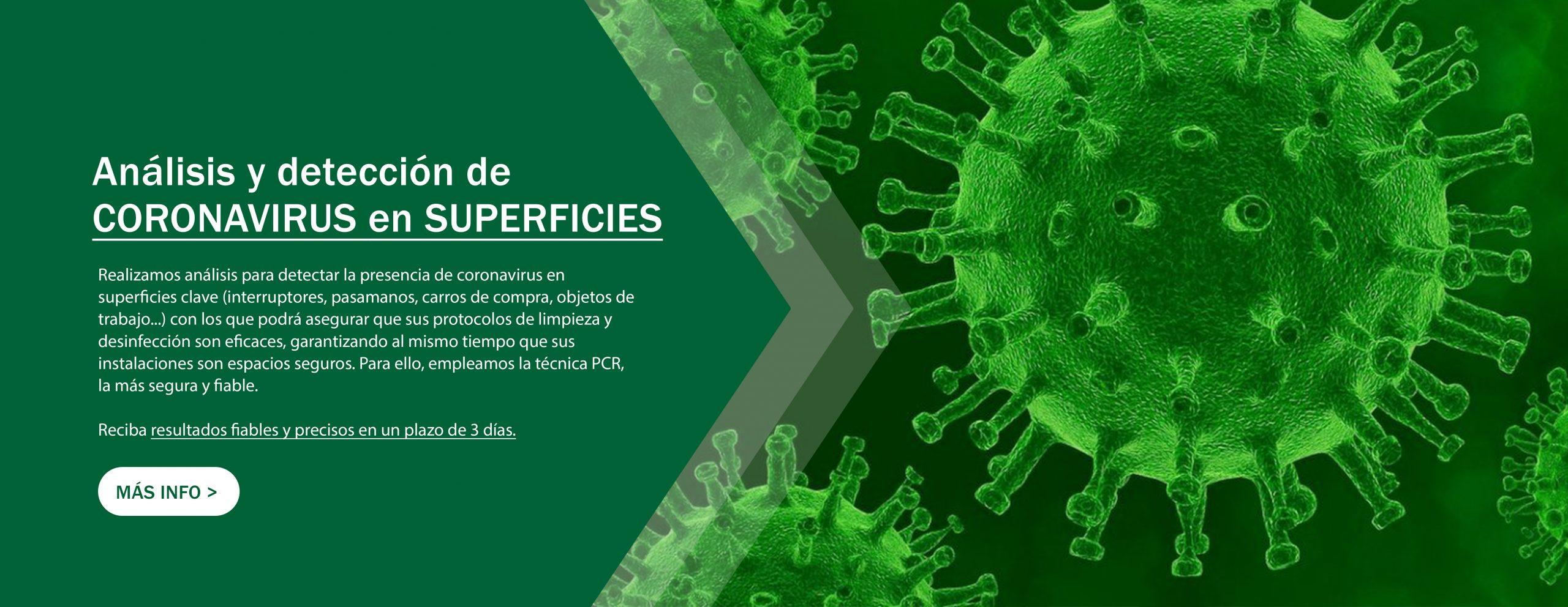Análisis de coronavirus en superficie - Laboratorio KUDAM